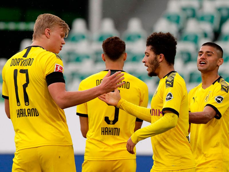 Dortmund defeated Wolfsburg in the Bundesliga