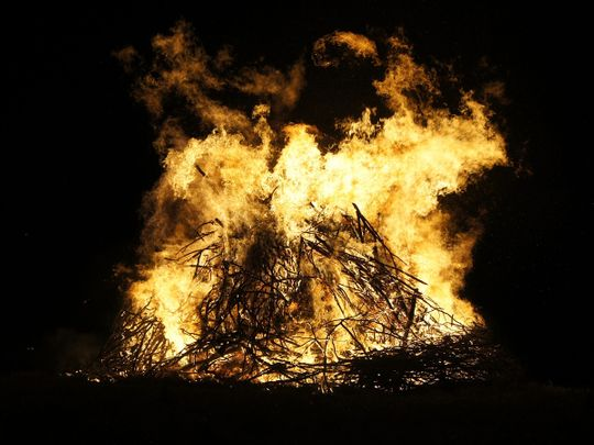 Last rites, pyre