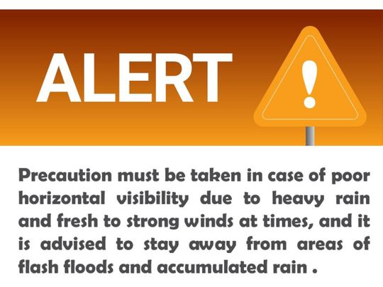 Amber weather warning issued by NCM
