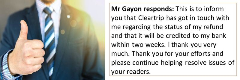 Cleartrip complaint