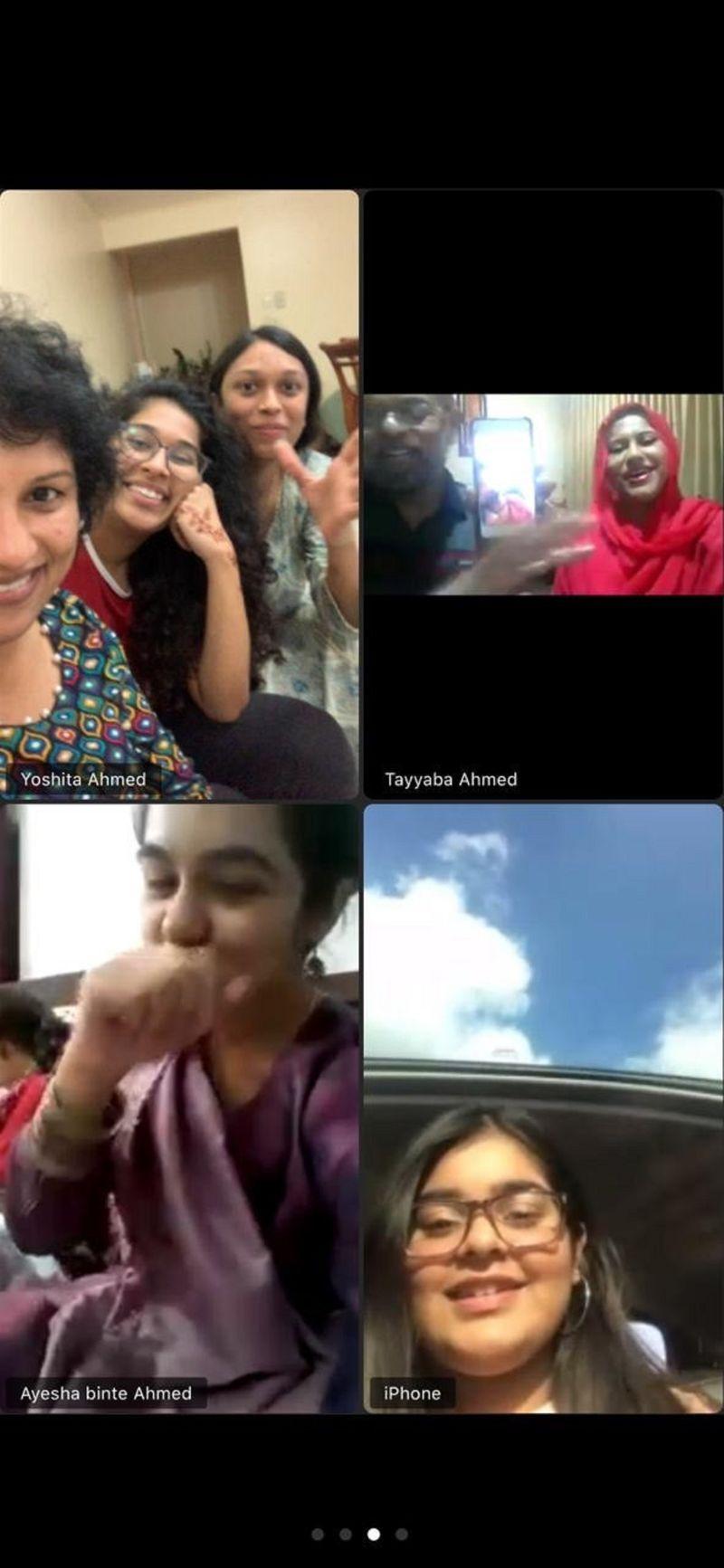 Eid revellers meet on Zoom