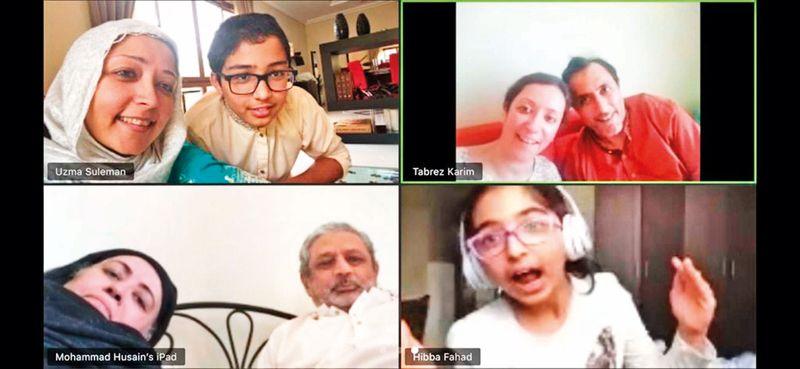 Families connect via Zoom to mark an alternative Eid