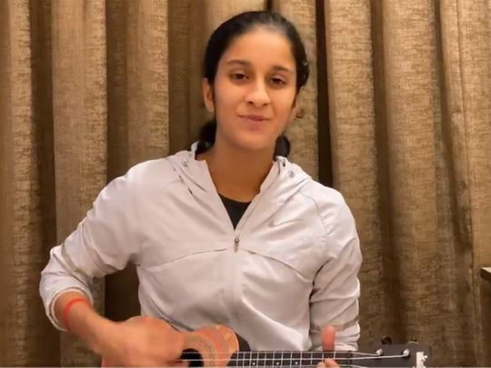 India batting star Jemimah Rodrigues plays her tunes.