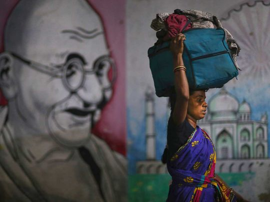 Migrant woman India Hyderabad