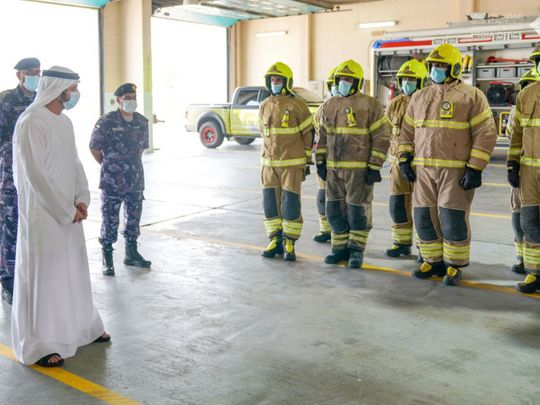 Sheikh Hamdan visits frontliners on first day of Eid