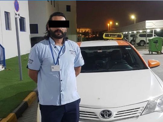 Watch: Taxi driver arrested in Sharjah for doing stunts on a highway