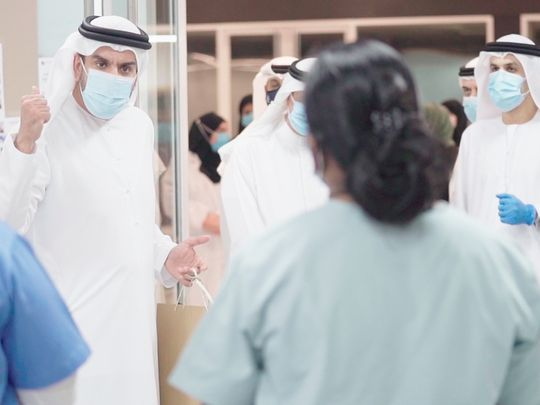 nat 200525 MoHAP Undersecretary visits Expo Centre field hospital-1590406169768