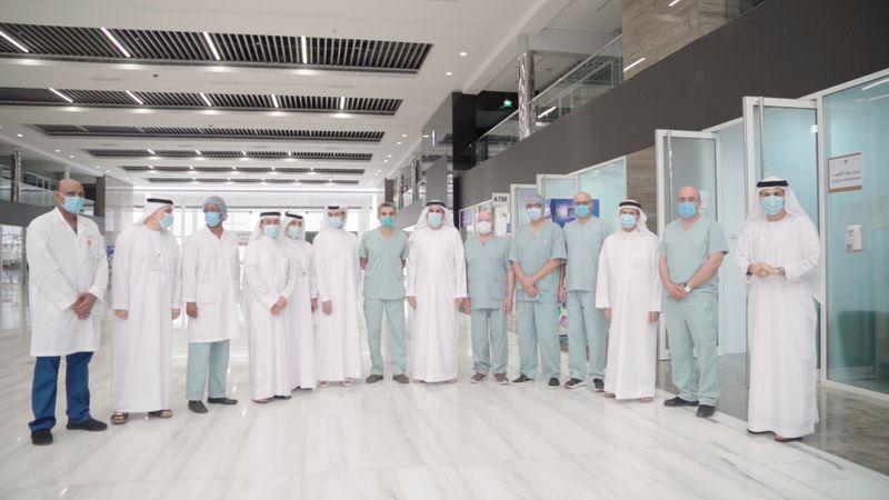 nat 200525 MoHAP Undersecretary visits Expo Centre field hospital 2-1590406173951