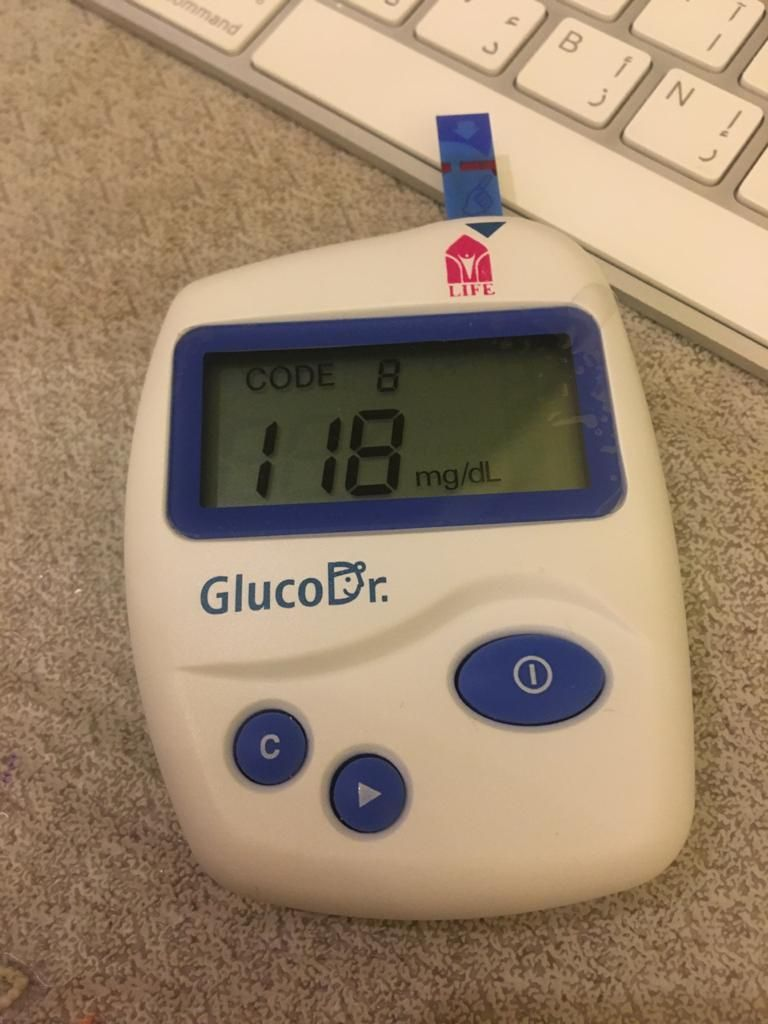 My fasting blood sugar level on Monday, May 26, 2020. Not good.