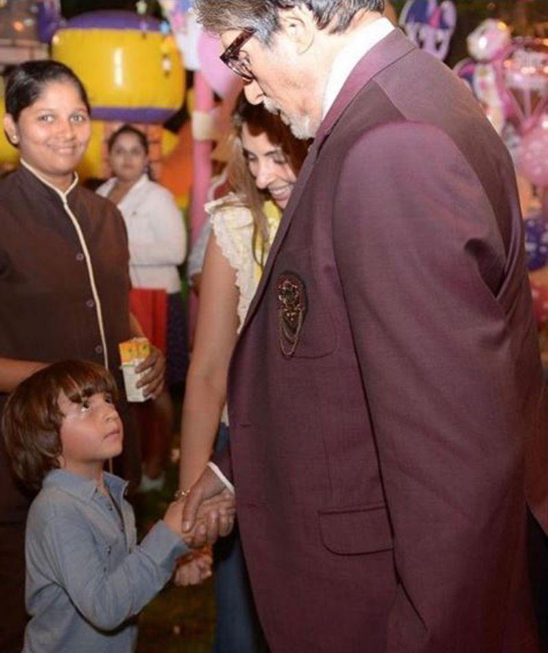 AbRam Khan and Amitabh Bachchan
