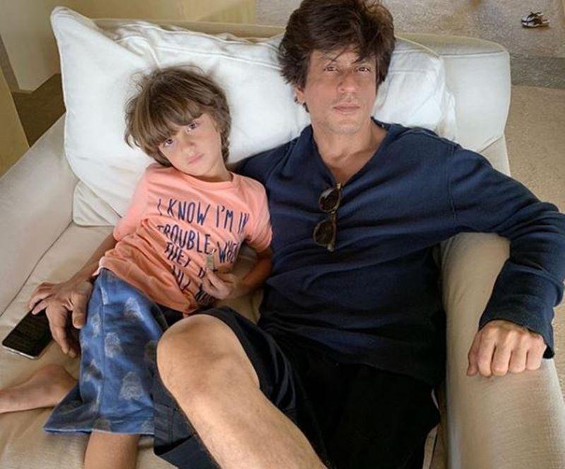 AbRam and Shah Rukh Khan