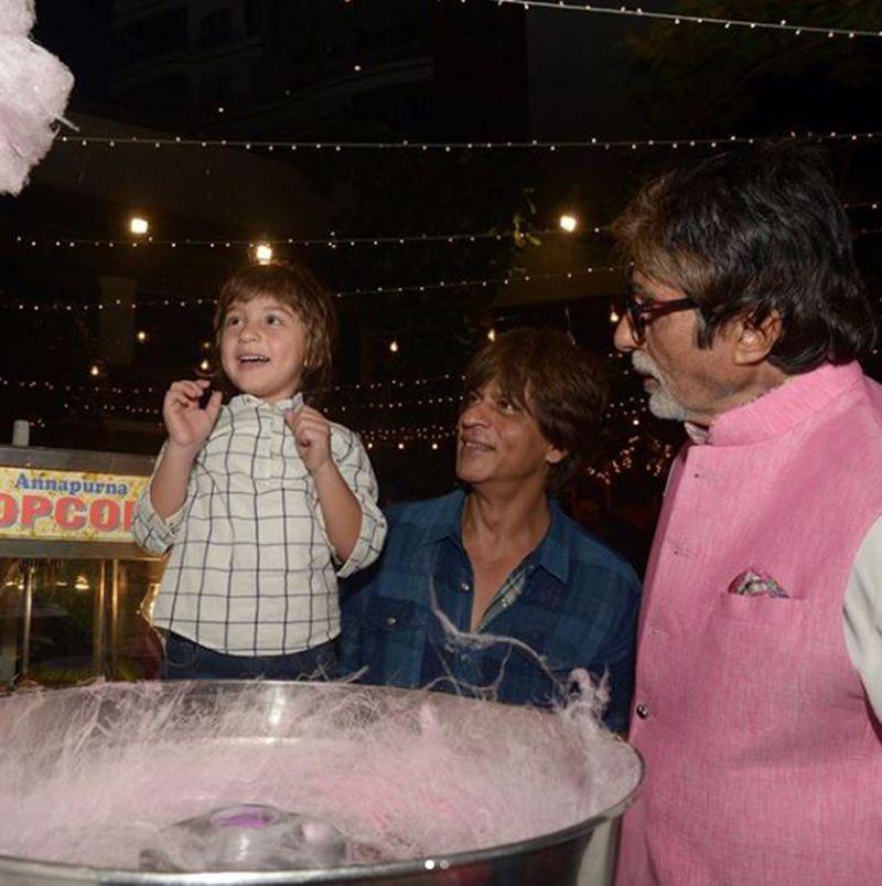 AbRam with Shah Rukh Khan and Amitabh Bachchan