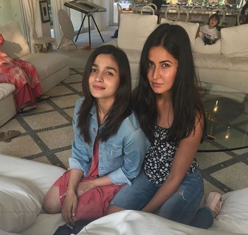 Alia Bhatt and Katrina Kaif with AbRam Khan