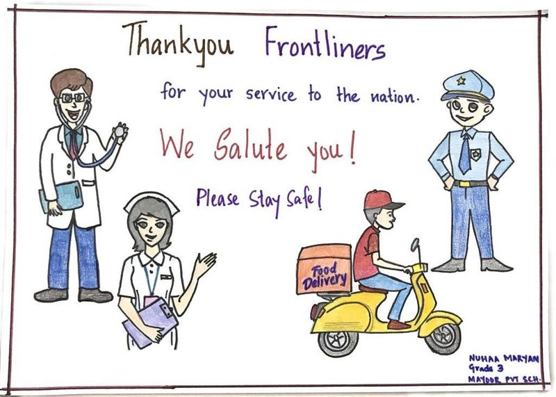 Gulf News reader makes card to honour frontline healthcare workers