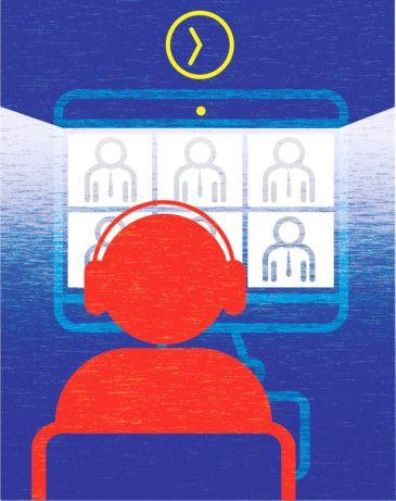 Getting the hang of virtual meetings is not easy