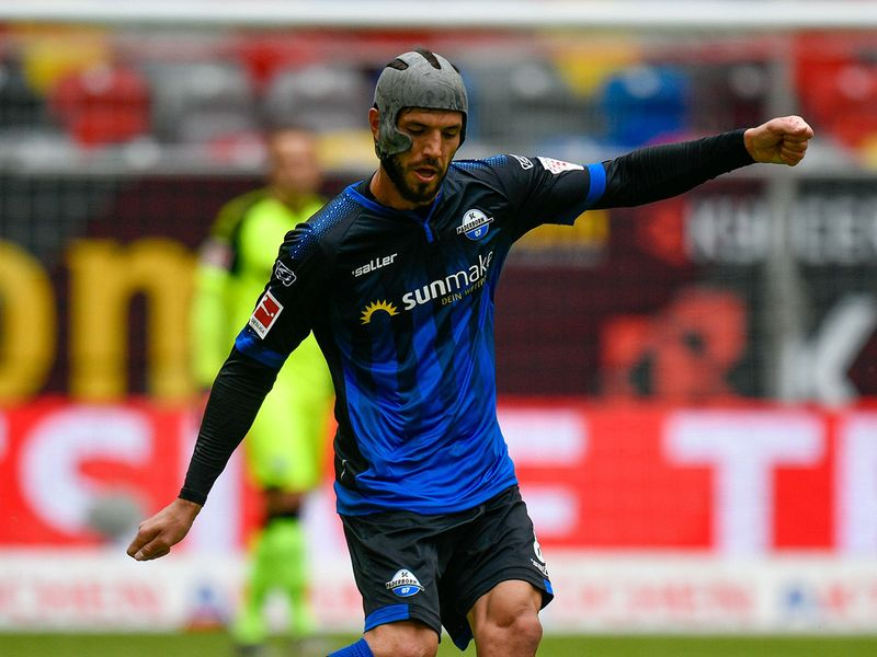 Paderborn's German midfielder Klaus Gjasula