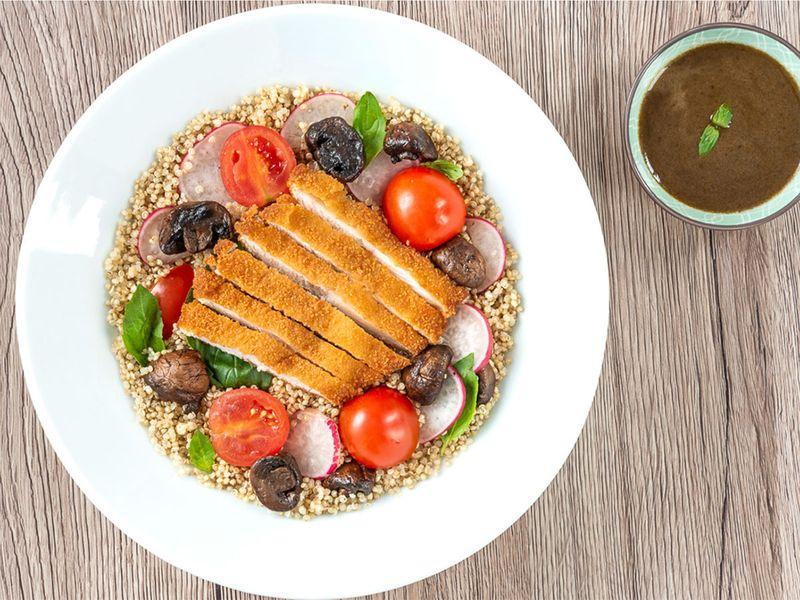 Recipes, ceasar salad, quinoa, hummus toast