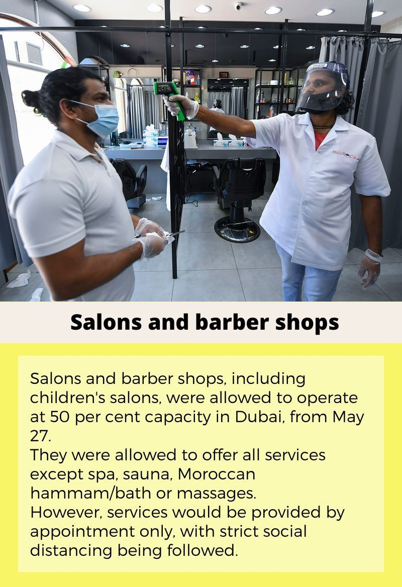 What's open what's not - May 27 - barbershops salons