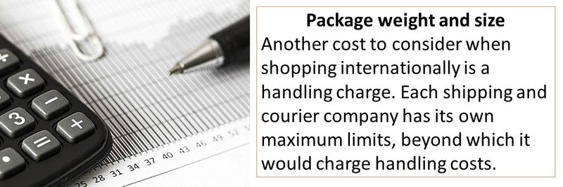 online shopping charges
