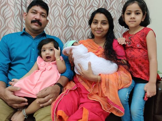 NAT 200529 anshu, abhilash with their three kids-1590742491304