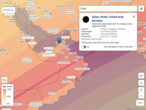 NAT Partial Solar Eclipse Map - 21 June 2020-1590833917283