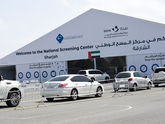 SEHA drive through National Screening Center; covid-19 in UAE