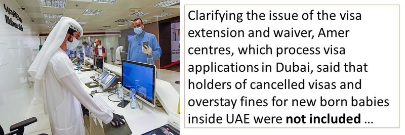 Cancelled UAE visas not eligible for visa extension, fine waiver