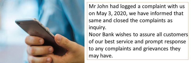 Noor Bank complaint