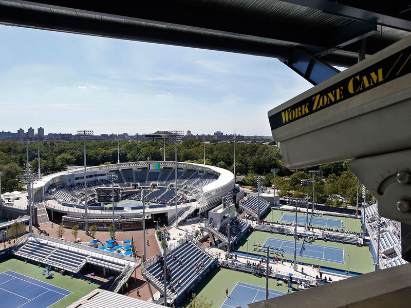 The Grandstand stadium at the Billie Jean King National Tennis Centre in New York.