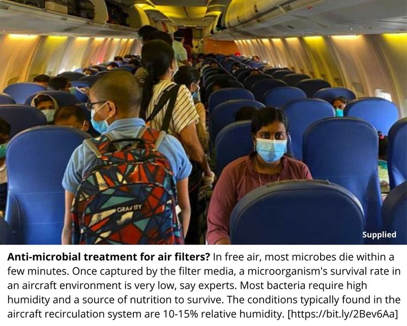 Anti-microbial treatment for air filters