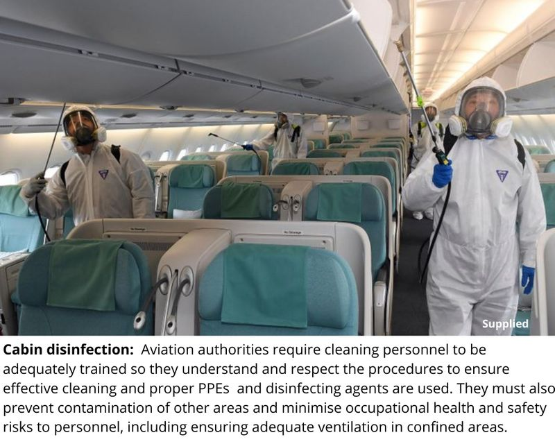 Cabin disinfection