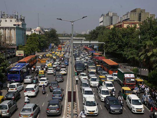 Delhi traffic India borders