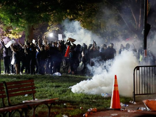 US: Tear gas fired as clashes erupt outside White House