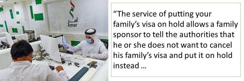 family visa put on hold