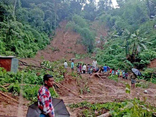 Assam landslide villagers