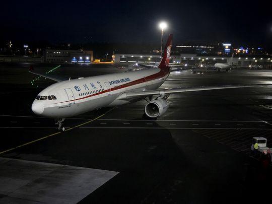 A Sichuan Airlines' plane