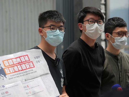 Hong Kong petition Joshua Wong