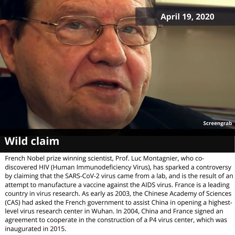 Luc Montagnier french HIV discoverer