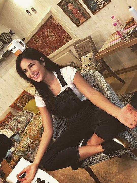 Katrina Kaif working from home