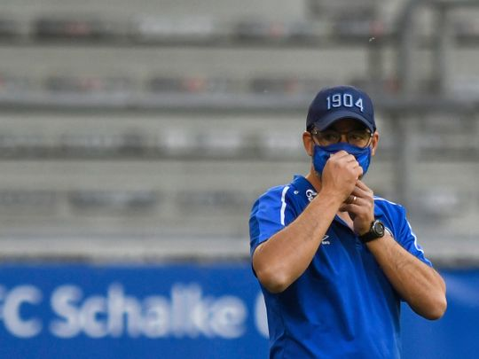 Schalke coach Coach David Wagner will have nowhere to hide if they lose on Sunday.