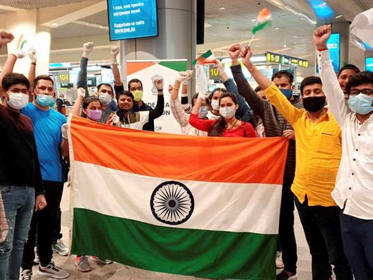 Moscow Vande Bharat Mission passengers India
