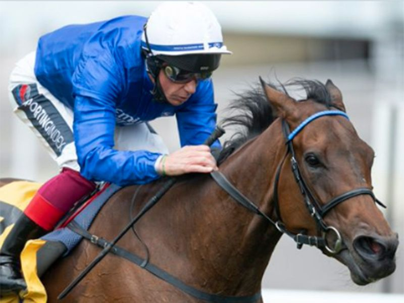 Frankie Dettori returned to the winner's circle for Godolphin at Newmarket.