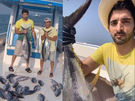 Sheikh Hamdan on a fishing trip as Dubai reopens