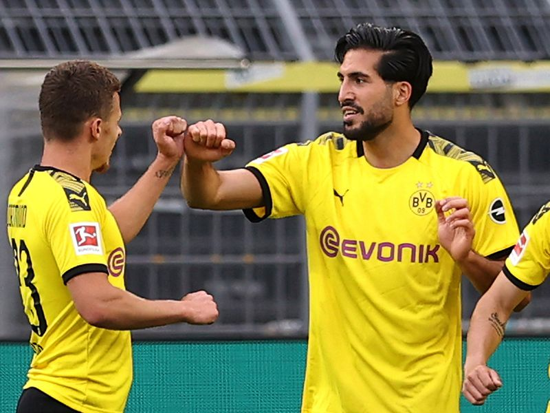 Dortmund's Emre Can scored the winner against Hertha.