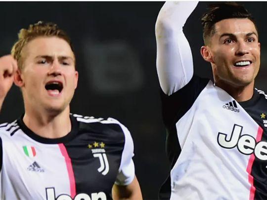 Juve's Matthijs de Ligt and Cristiano Ronaldo