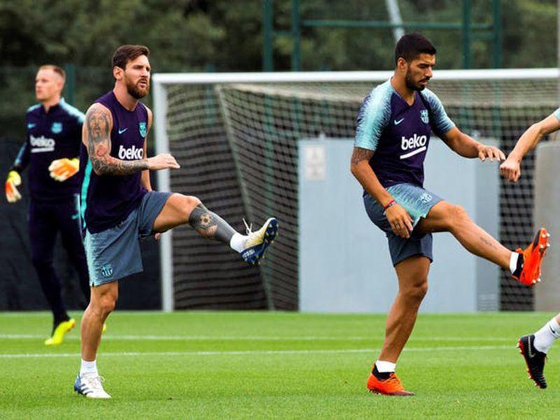 Barcelona's Lionel Messi and Luis Suarez are preparing for La Liga title run-in.