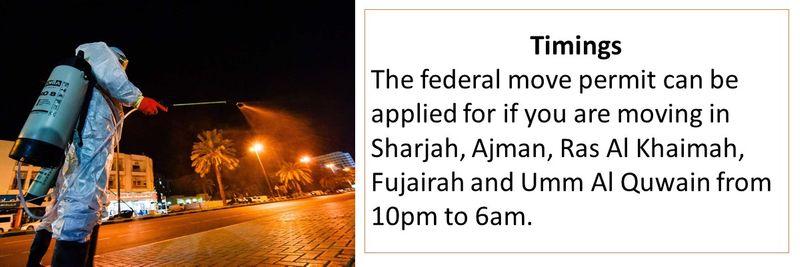 Federal move permit