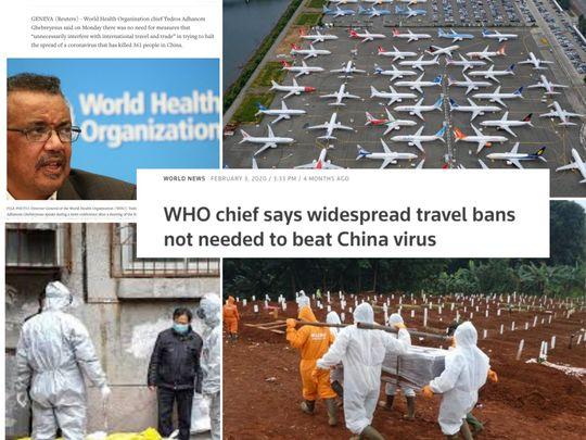 WHO travel ban