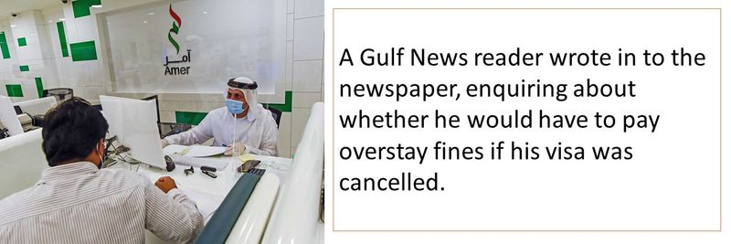 Cancelled UAE visa