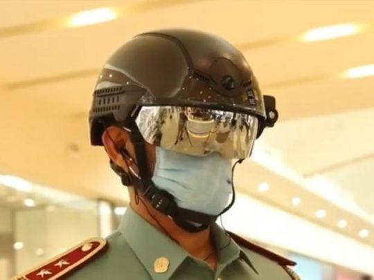 Fujairah Police use smart helments